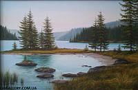 Картина маслом природа «Горы»