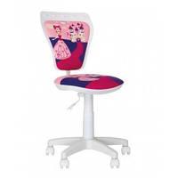 Детское кресло офисное, кресло компьютерное для детей MINISTYLE GTS PL55 white