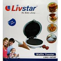 Вафельница Livstar LSU-1218, апарат для приготовления вафель дома.