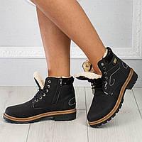 Ботинки женские черные Зима 36