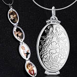 Срібний медальйон фото рамка (4 фото), фото 3