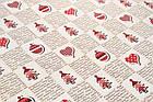 Новогодняя бумага для упаковки  в листах 85х60 мм, фото 3