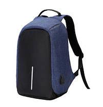 Антивор-рюкзак с USB зарядкой (синий)