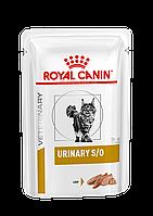 Влажный лечебный корм Royal Canin Urinary S/O для кошек (паштет) 85ГР*12ШТ