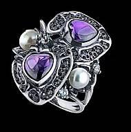 Серебряное кольцо Вербена
