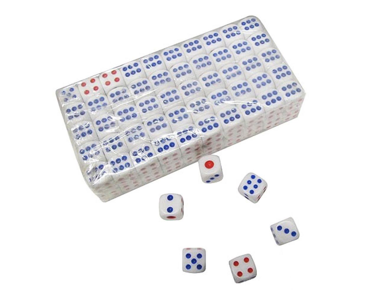 Кости игральные маленькие (кубики) упаковка 100 шт