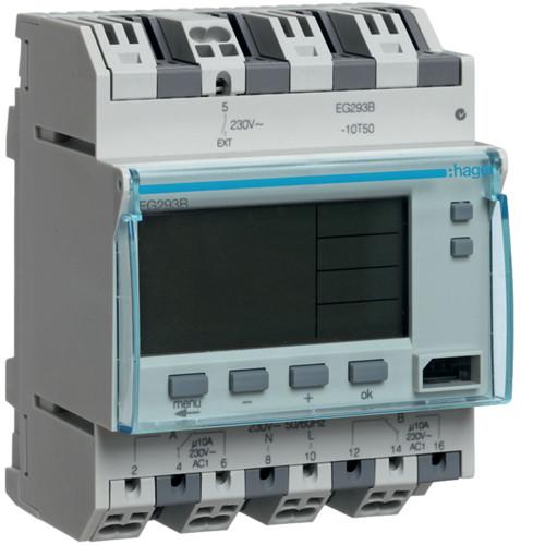 Таймер цифровой универсальный Hager 10 А 2НВ(EG293B)