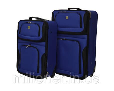 Набор чемоданов Bonro Best 2 шт синий, фото 2