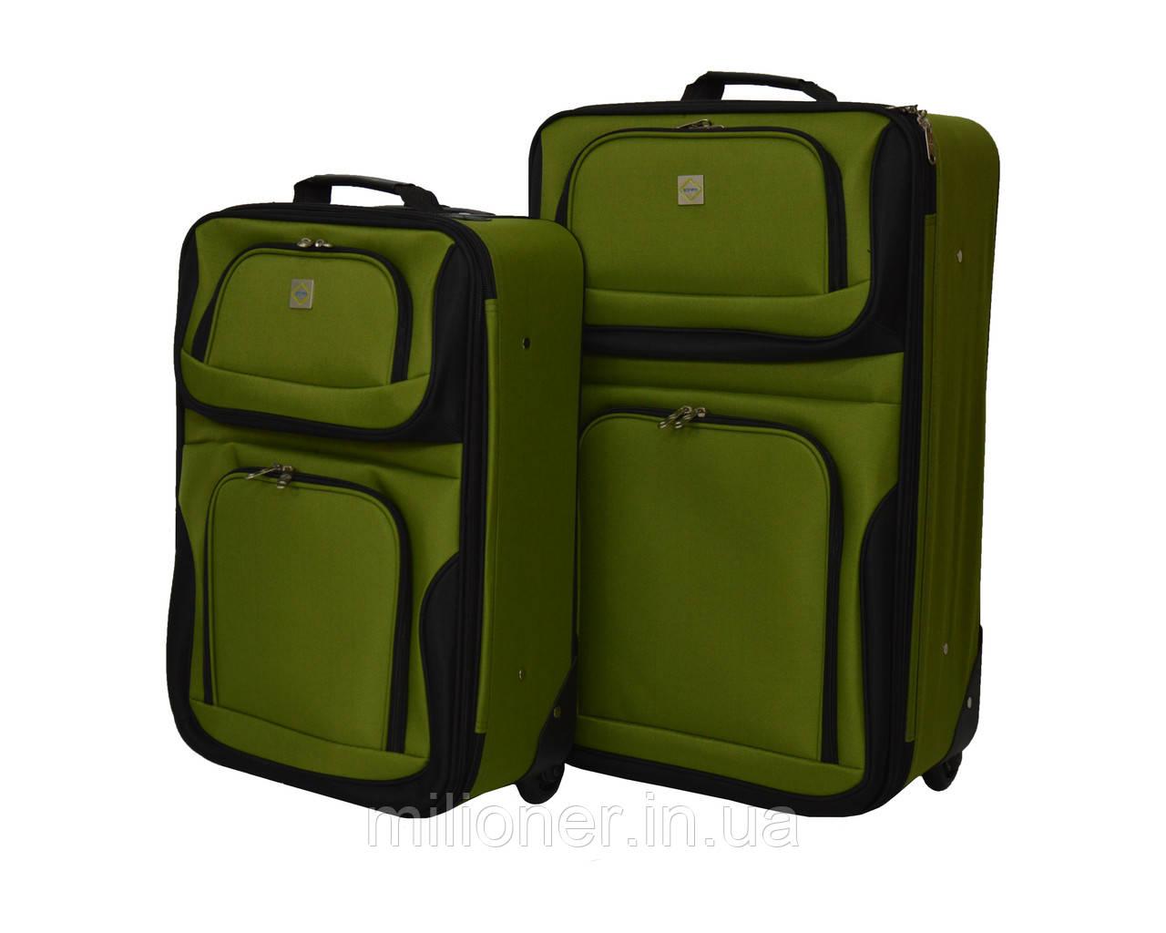 Набор чемоданов Bonro Best 2 шт зеленый