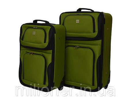 Набор чемоданов Bonro Best 2 шт зеленый, фото 2