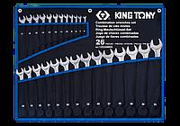 Набор ключей комбинированных 26шт. (6-32 мм) супер-легкие чехол TREOTON King Tony 12D26MRN