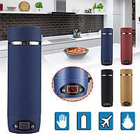 420мл Бутылки с вакуумной изоляцией На открытом воздухе Кемпинг Походная походная кипящая кружка Электрический чайник с подогревом чашки-1TopShop