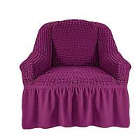 Натяжной чехол для кресла Фиолетовый
