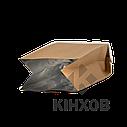 Пакет с центральным швом 90*320 ф (30+30) крафт, фото 3