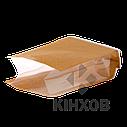 Пакет Стабіл з крафт-паперу 100х240 мм прозорі фальци, фото 3