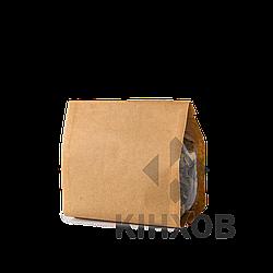 Пакет Стабіл з крафт-паперу 100х170 мм прозорі фальци