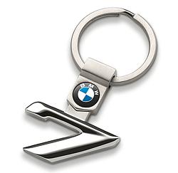 Оригинальный брелок для ключей BMW 7 Series Key Ring, Silver (80272454653)