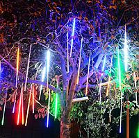 """Гирлянда-шторка""""Метеоритный дождь"""" 50см, 8 метиоритов, RGB мультицвет"""