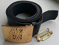 Ремни армейские кожаные с пряжкой латунь с гербом, 0 - 4 р.