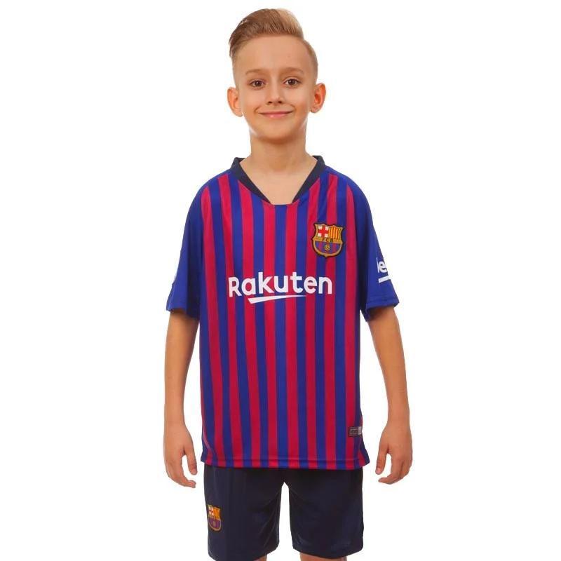 Форма футбольная детская BARCELONA домашняя 2019 CO-7293  размер 26 (реплика)