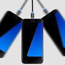 Кабель для зарядки Topk USB 1m 2.4A 360° (TK17i-VER2) MicroUSB Black магнитный зарядный, фото 2