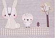 Сатин (хлопковая ткань) на сером животные леса (основа), фото 4