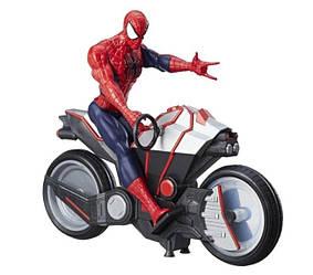 Spider Man  Людина-павук на мотоциклі 30 см ( Человек-Паук  с мотоциклом Hasbro B9767, MARVEL )