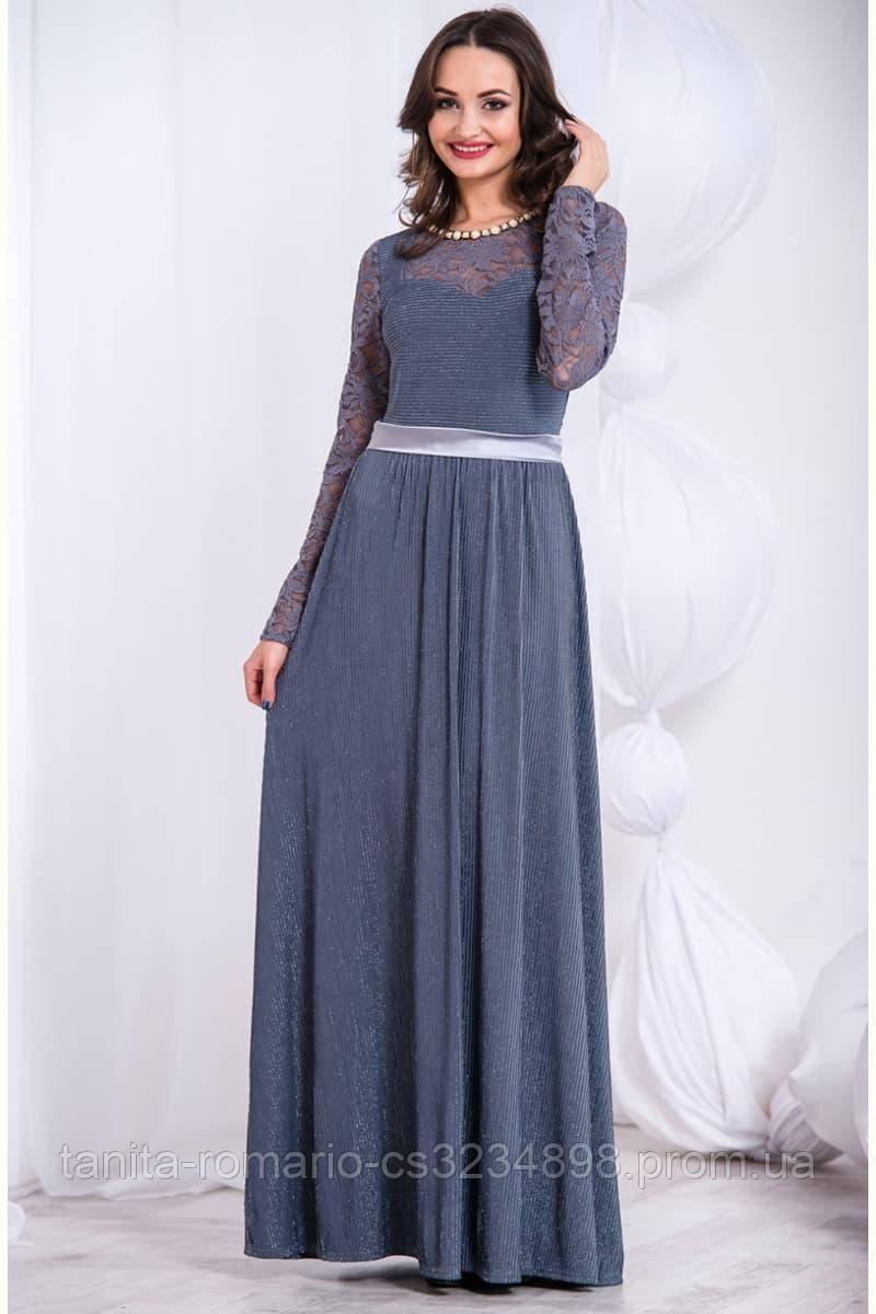 Вечернее платье 5280e Серый