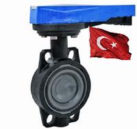 Поворотный дисковый клапан Pimtas с ручным управлением PVC. Заслонка поворотная батерфляй диаметр 75 мм