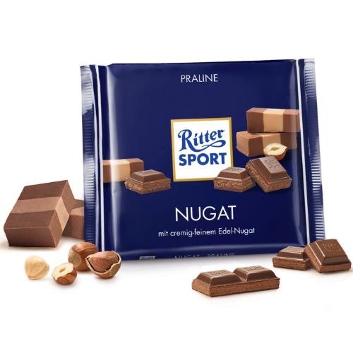 Молочный шоколад Ritter Sport Нуга 100 г