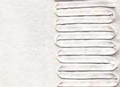 Французский трикотаж односторонний купон 12 см, молочный