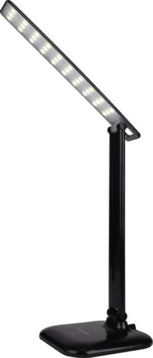 Настольная черная LED лампа DSL052, 9W, 500lm, 4100k, dimmer, sensor