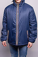 Куртка мужская двухсторонняя (сине/зеленая) демисезонная Rifle (размер XL)