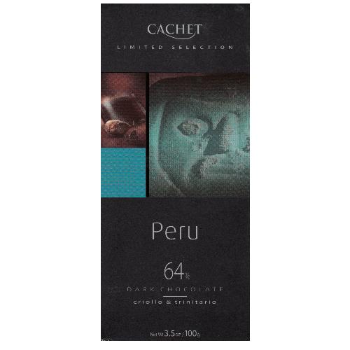 Черный шоколад Cachet Перу 64% 100 г