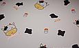 Сатин (хлопковая ткань) коровка с желтыми рожками (90*130), фото 2