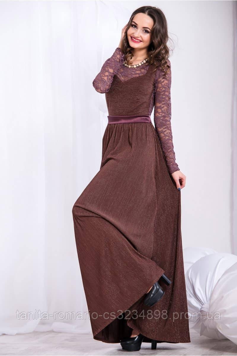Вечернее платье 5280e Коричневый