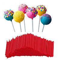 Палички для кейк-попсов Червоні 1000шт