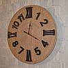 """Дерев'яний настінний годинник """"Victoria Station"""" (60 см.)"""