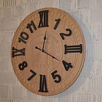 """Дерев'яний настінний годинник """"Victoria Station"""" (60 см.), фото 1"""