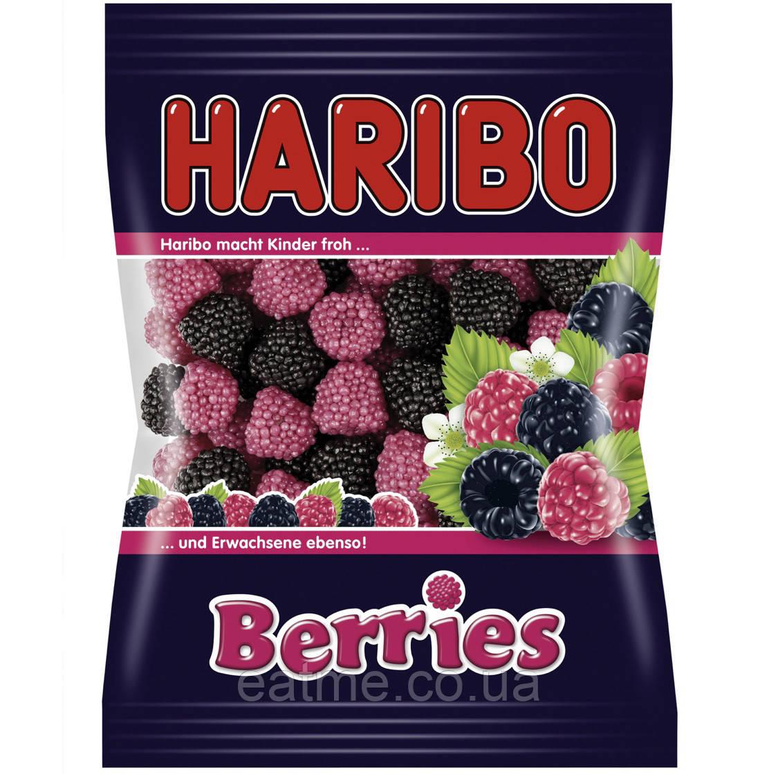 Haribo Berries Желейные конфеты с ягодным вкусом в виде малинок