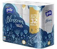 """Туалетная бумага """"Grite Blossom"""" 150 отрывов, 3 -х слойная, 32 рулона"""