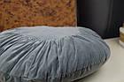 Декоративна подушка сіра кругла, фото 6