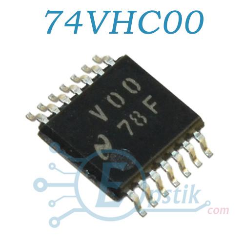 74VHC00, четырехканальный логический элемент, TSSOP14