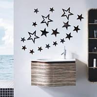 3D Star Multi-color DIY Форма Зеркало Стены Стикеры Главная Стена Спальня Офис Декор-1TopShop
