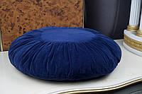 Декоративная подушка круглая синяя
