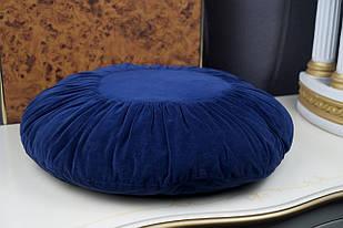 Декоративна подушка кругла синя