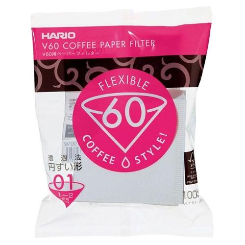 Паперові білі фільтри для пуровера 01 Hario 100 шт (VCF-01-100W)
