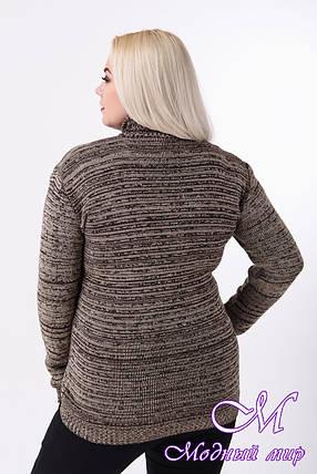 Женский шерстяной вязаный свитер (ун. 52-58) арт. К-13-94, фото 2