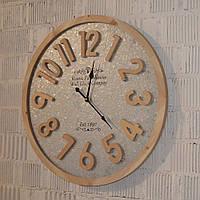 """Настінний годинник  інтер'єрний """"Rustic Farmhous"""" (60 см. дерево, метал), фото 1"""