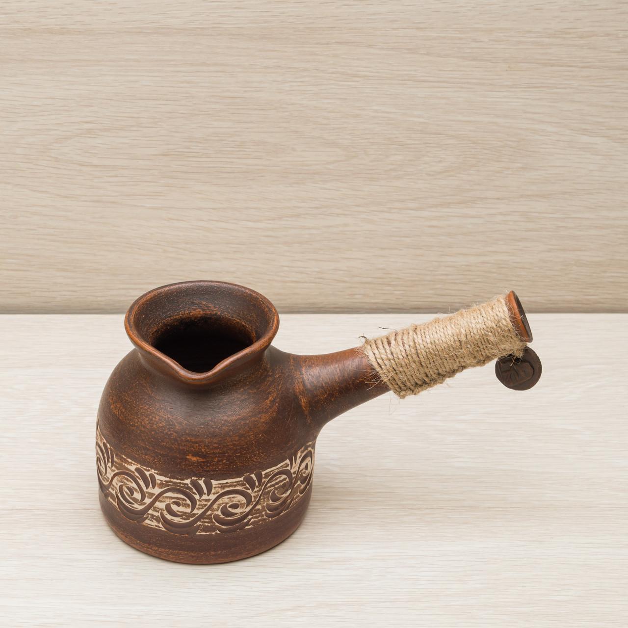 Турка для кофе 0,35 л Гончарная декор